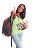 Menina do adolescente do americano africano do sucesso da instrução Imagens de Stock Royalty Free