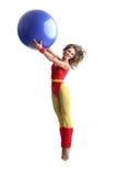 Menina do Aerobics Fotografia de Stock