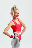 Menina do Aerobics Fotos de Stock Royalty Free