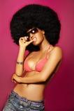 Menina do Afro fotografia de stock