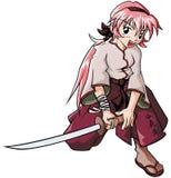 Menina do Aikido Fotografia de Stock