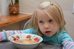 Menina do almoço Imagens de Stock Royalty Free