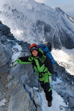 Menina do alpinista Imagens de Stock Royalty Free