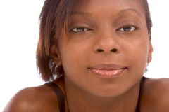 Menina do americano africano fotografia de stock royalty free