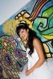 Menina do aniversário de Quinceanera Foto de Stock