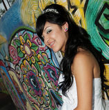 Menina do aniversário de Quinceanera Imagens de Stock