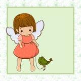 Menina do anjo. Imagem de Stock