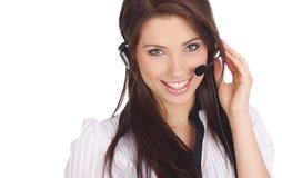 Menina do apoio a o cliente Imagens de Stock Royalty Free