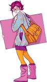 Menina do artista ilustração stock