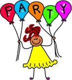 Menina do balão ilustração royalty free