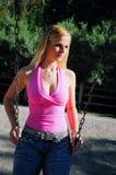 Menina do balanço Fotos de Stock