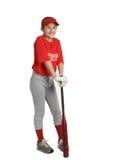 Menina do basebol Fotos de Stock Royalty Free