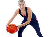 Menina do basquetebol Fotos de Stock