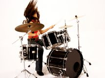 Menina do baterista Imagem de Stock Royalty Free