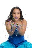 Menina do brilho foto de stock royalty free