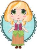 Menina do camponês do Anime Imagens de Stock