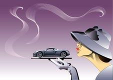 Menina do carro ilustração stock