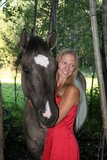 Menina do cavalo Imagem de Stock Royalty Free