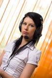 Menina do centro de chamadas Foto de Stock