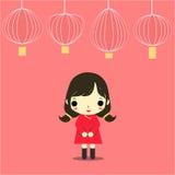 Menina do CNY ilustração do vetor