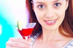 Menina do cocktail Imagens de Stock Royalty Free