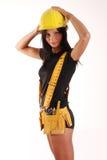 Menina do construtor Foto de Stock Royalty Free
