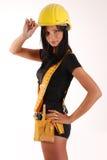 Menina do construtor Fotos de Stock Royalty Free