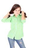 Menina do coquete Fotos de Stock Royalty Free