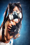 Menina do Cyber Foto de Stock Royalty Free