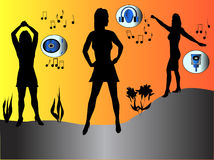 Menina do dançarino ilustração royalty free