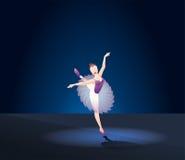Menina do dançarino de bailado Imagens de Stock Royalty Free