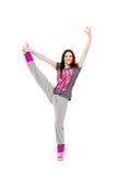 Menina do dançarino de Hip-hop Fotos de Stock