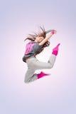 Menina do dançarino de Hip-hop fotografia de stock