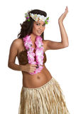 Menina do dançarino de Hula Imagens de Stock