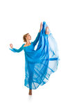 Menina do dançarino isolada Imagem de Stock