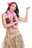 Menina do dançarino de Hula Imagem de Stock Royalty Free