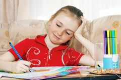 Menina do desenho Foto de Stock