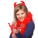 Menina do diabo foto de stock royalty free