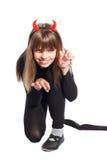Menina do diabo Fotos de Stock Royalty Free