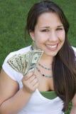 Menina do dinheiro foto de stock royalty free