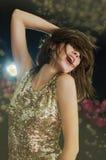 Menina do disco Imagens de Stock Royalty Free