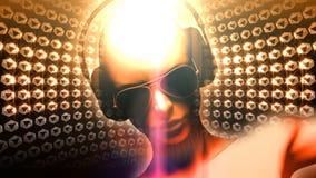 Menina do disco do DJ do diamante ilustração royalty free