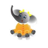 Menina do elefante Fotos de Stock Royalty Free