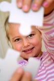 Menina do enigma Fotos de Stock Royalty Free