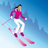 Menina do esqui Imagens de Stock Royalty Free