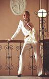 Menina do estilo do vintage fotografia de stock royalty free