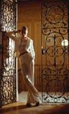 Menina do estilo do vintage imagem de stock royalty free