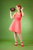 Menina do estilo Pin-acima Foto de Stock Royalty Free