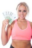 Menina do Euro 500 Imagens de Stock Royalty Free