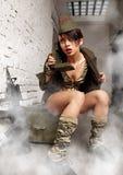 Menina do exército Fotografia de Stock Royalty Free